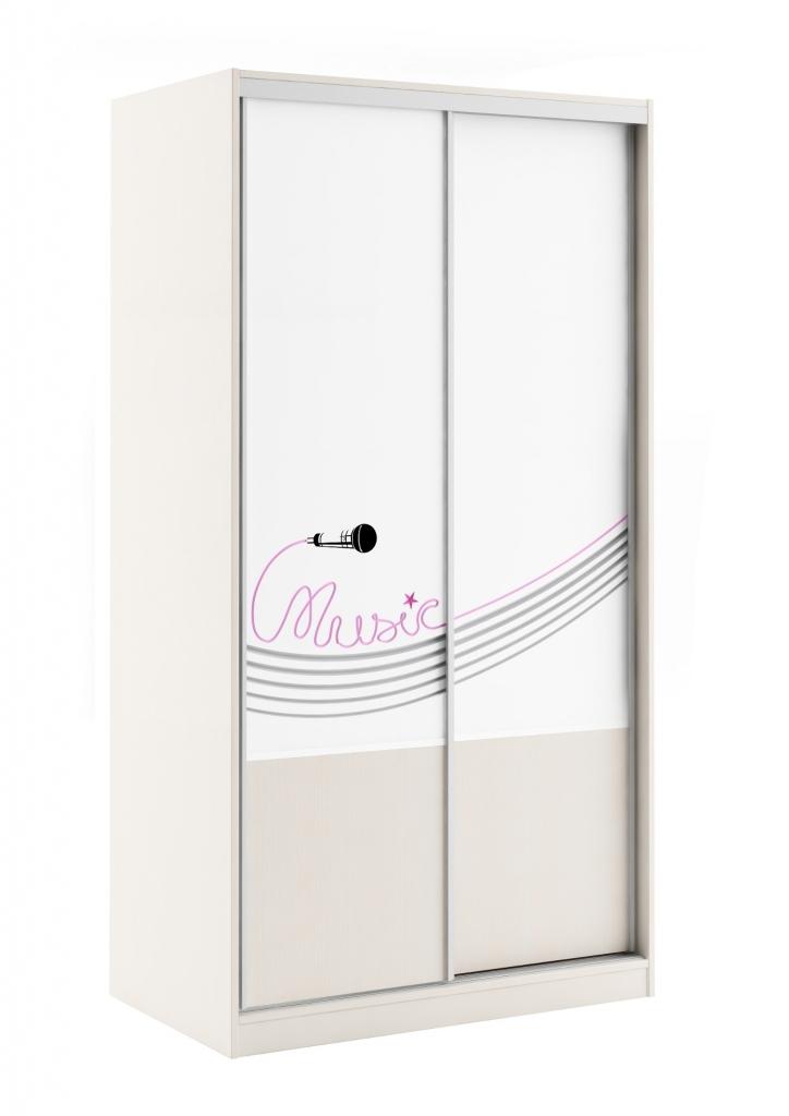 Armoire Music 2 pt coulissantes (L110 cm x H 210 cm x P65 cm)