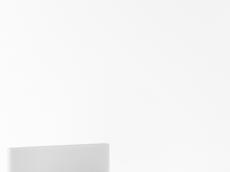 Lit 120/200 tête en PU blanc (212 cm x 131 cm x H86